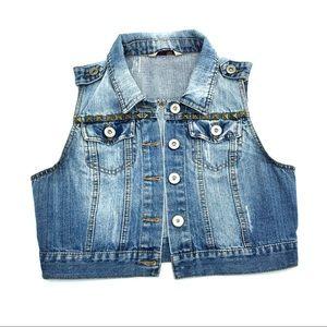 Highway Studded Jean Vest
